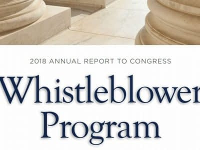 whistleblower program SEC Etats-Unis corruption fraude fcpa rapport 2018 lanceur alerte