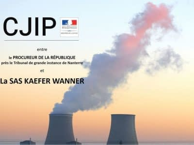 cjip societé kaefer wanner sas corruption EDF PNF convention judiciaire interet public